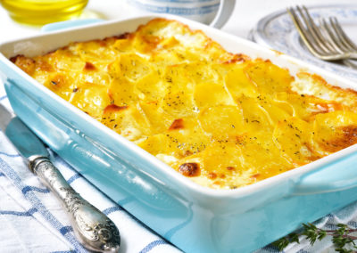 Patate al latte gratinate